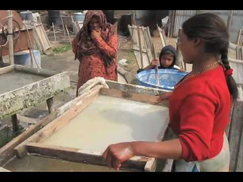 Handmade Paper Making Operation in Kathmandu, Nepal - Art Life w/ Pangeality Productions