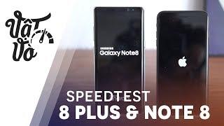 So sánh hiệu năng Galaxy Note 8 và iPhone 8 Plus