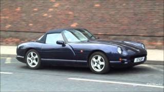 Blue TVR Chimaera 450 - Drive-By and Light Acceleration