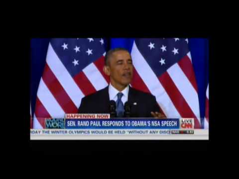 Obama Announces NSA Reforms: Full Speech + Rand Paul, Bernie Sanders & Julian Assange Respond (CNN)