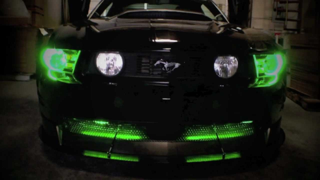 ford mustang 5 0 lighting by advanced automotive concepts youtube