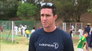 Kevin Pietersen at Laureus supported Johannesburg Cubs project