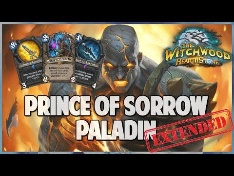 Prince of Sorrow Paladin | Extended Gameplay | Hearthstone | The Witchwood