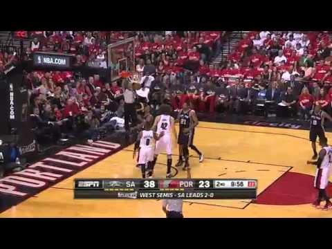 San Antonio Spurs vs Portland Trail Blazers Game 3 Highlights   NBA Playoffs 2014