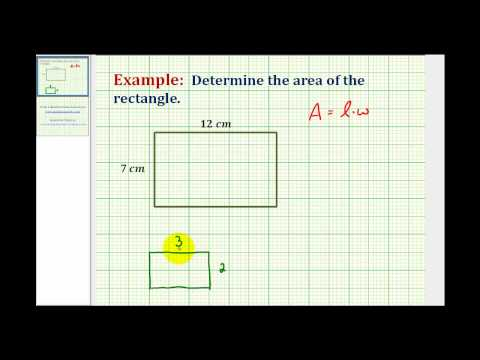 Determine the Area of a Rectangle Involving Whole Numbers