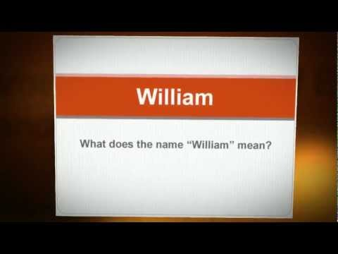 What Does My Name Mean? - William - YouTube