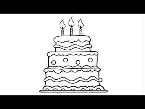 Làm thế nào để vẽ # một chiếc bánh sinh nhật đẹp