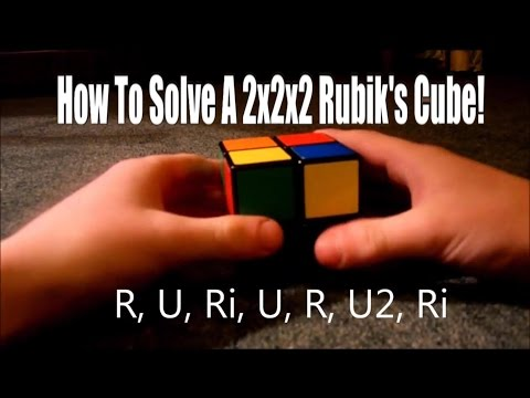 How To Solve A 2x2x2 Rubik's Cube [EASIEST & FASTEST WAY] + Annotations