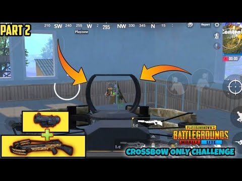 PUBG MOBILE LITE CROSSBOW ONLY CHALLENGE (FUNNY MOMENTS) PART 2