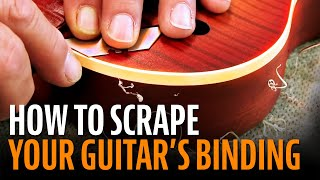 Watch the Trade Secrets Video, Scraping for sharp looking binding: here's how it's done!