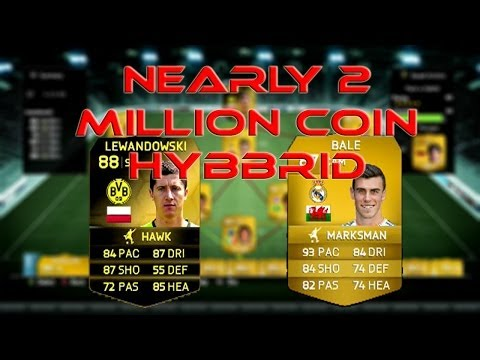 NEARLY 2 MILLION COIN HYBRID W/ BALE AND LEWANDOWSKI SIF FIFA 14 ULTIMATE TEAM SQUAD BUILDER #2