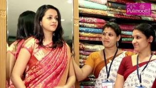 Bhavana at Pulimoottil Silks view on youtube.com tube online.