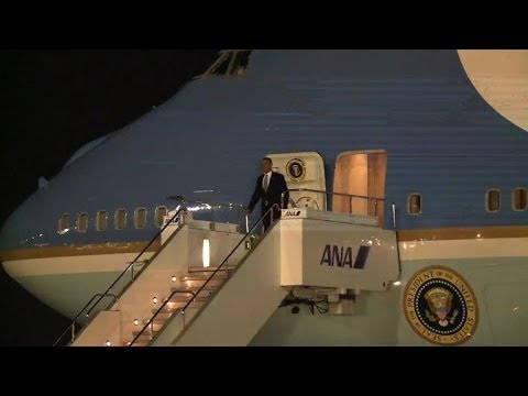 Obama arrives in Japan for tension-filled Asia trip