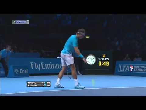 Rafael Nadal vs David Ferrer  6 3, 6 2  Highlights London 2013