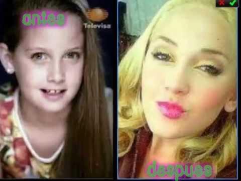 Antes y despues de las famosas de Violetta