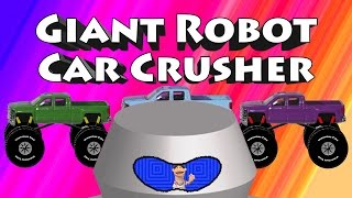 Giant Robot Car Crusher - Mixing Colors