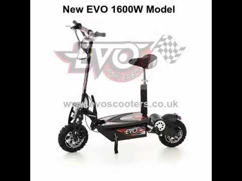 NEW MODEL! 1600W Electric Scooter by EVO Powerboards