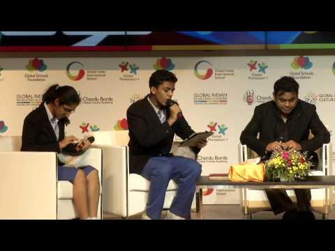 AR Rahman speaks at GIIS Leadership Lecture Series, May 2014