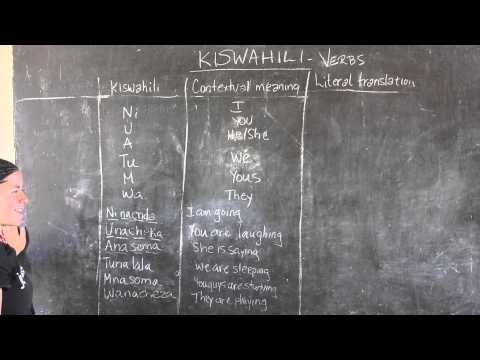 Video #10 - GO! presents: BEST Swahili Tutorials - SUBJECT & VERB (live from Tanzania)