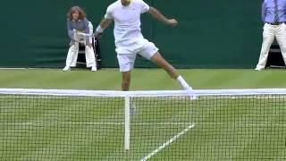 Grigor Dimitrov through the legs winner - Wimbledon 2014
