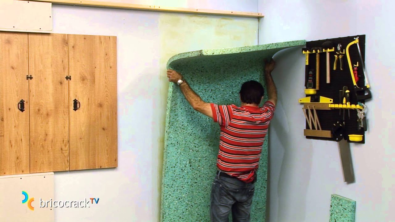 Aislar una pared con paneles encolados bricocracktv youtube - Paneles decorativos para paredes leroy merlin ...