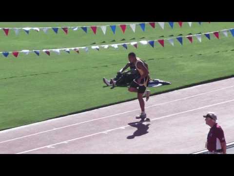 EHS @ CA State Track Meet Triple Jump  1st jump day 2 finals