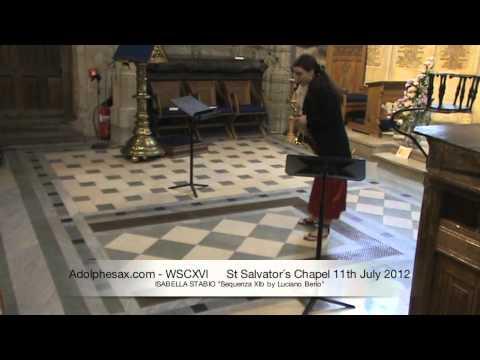 WSCXVI ISABELLA STABIO   Sequenza XIb by Luciano Berio