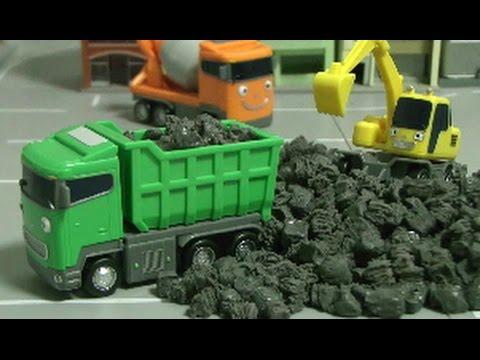 đồ chơi ô tô hoạt hình xe cần cẩu  Tayo The Little Bus Truck Toys 타요 트럭 장난감