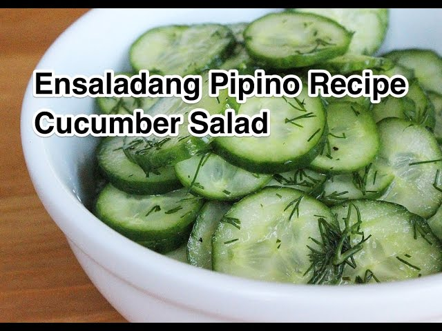 Ensaladang Pipino recipe Cucumber salad how to cook great food filipno pinoy cooking