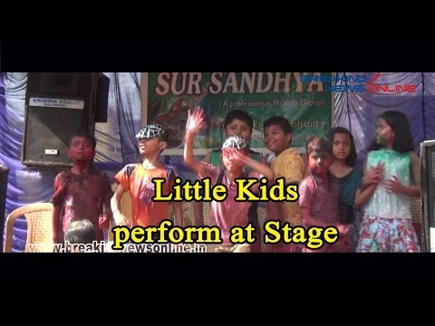 Little Kids perform at Stage Show during Holi