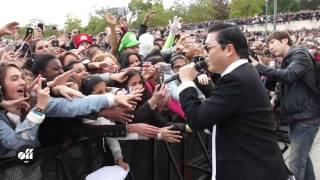 "PSY in Paris: ""Gangnam Style"" flashmob at"