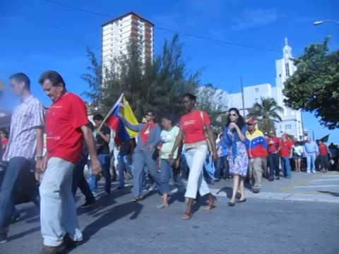 Demonstration in Havana on the first anniversary of Chavez' death