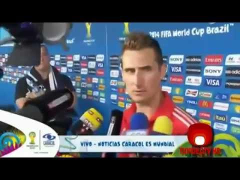 Miroslav Klose Rompe Récord Ronaldo Gol 16( Brazil 2014 ) - RETRONOSTALGIA