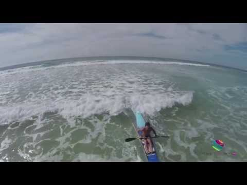 Surf skiing aerials, Jeff Lemarseny, Buddina Beach, Sunshine Coast, Queensland Australia