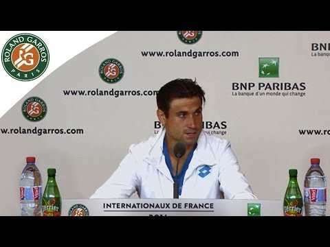 Press Conference David Ferrer 2014 French Open R1