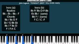 How To Play Tonight (Best You Ever Had) By John Legend