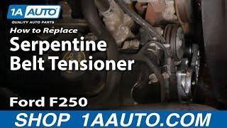 How To Install Replace Engine Serpentine Belt Tensioner 99