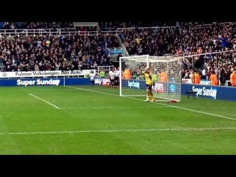 Newcastle United v Aston Villa Loic Remy winning goal and celebration