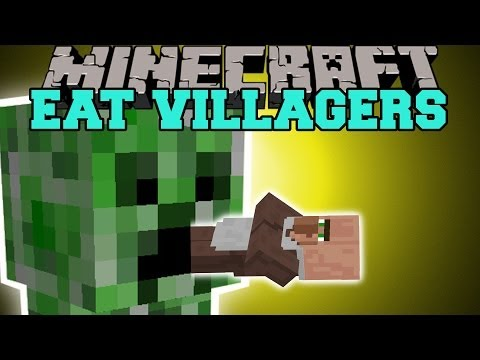 Minecraft: EAT VILLAGERS (GET EMERALDS THE EASY WAY!) Mod Showcase