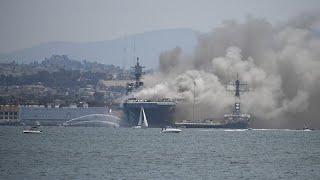 """كارثة على متن سفينة """"بونوم ريتشارد"""" الحربية الأمريكية"""