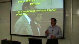 LECTURES: Professor Tom Lyon's Evidence Class 4/9/07
