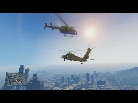 Helicopter Wars,Vehicle Surfing & More! - Grand Theft Auto 5