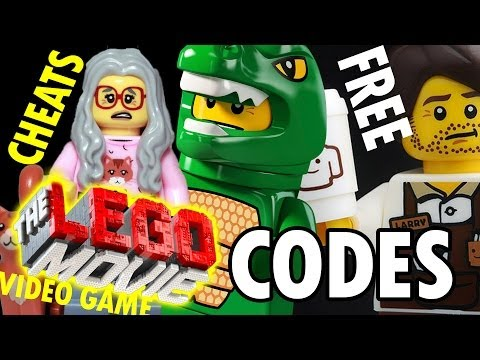 Lego Movie Cheat Codes for Free Characters! Emmet Lizard, Mrs. Scratchen Post, Larry the Barista