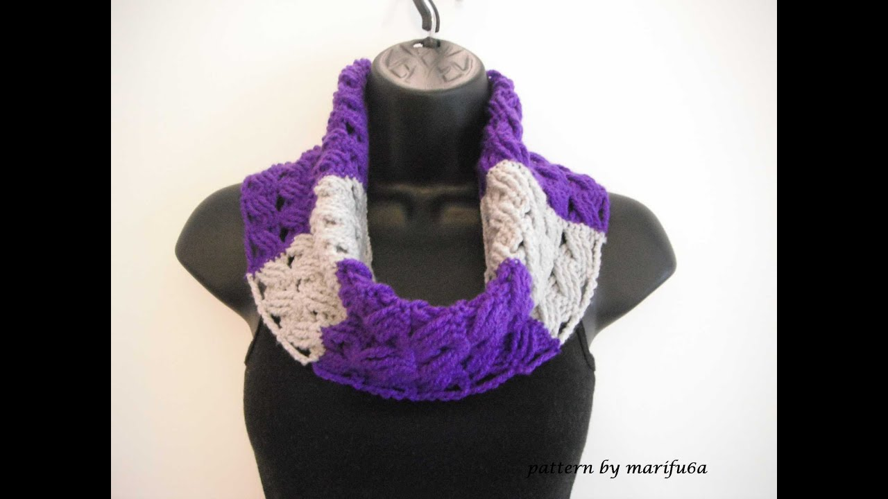 How To Crochet Pink Scarf Free Pattern Tutorial For Beginners : how to crochet cowl free pattern tutorial for beginners ...