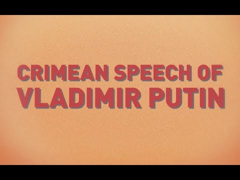 Crimean speech of Vladimir Putin