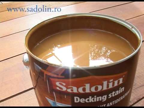 Sadolin - Cum se foloseste Sadolin Decking Stain