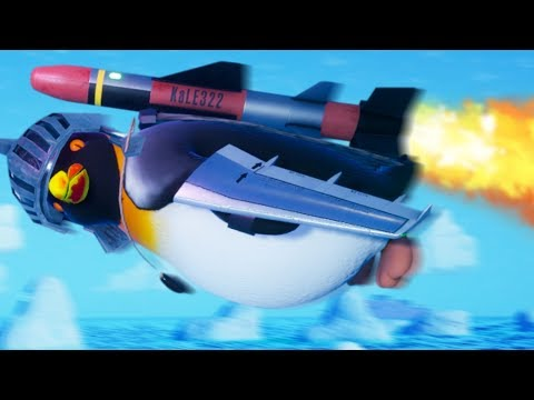AIRPLANE WINGS & MISSILE ON A FLYING PENGUIN - Flynguin Station Part 3 | Pungence