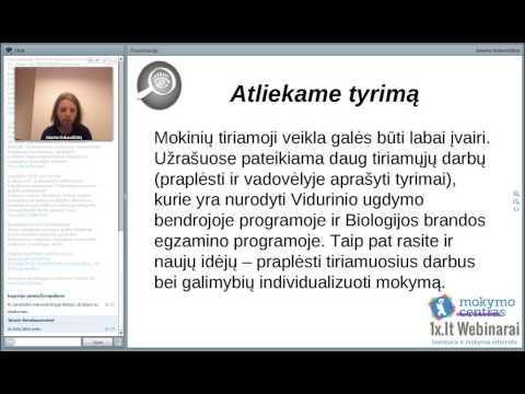 """2013-11-19 Jolanta Dzikavičiūtė, Mokinių gebėjimų ugdymas(is) naudojant """"Biologo užrašus"""""""