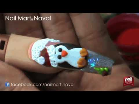 pinguino High 3D Uña de Acrílico