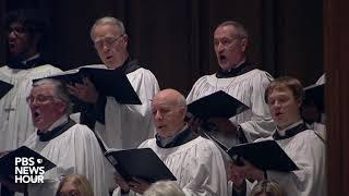 WATCH: St. Martin's parish choir sing 'Battle Hymn of the Republic' at George H.W. Bush's funeral